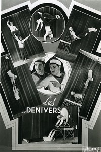 France Music Hall Circus Acrobat the Denivers Old Photo Esnault 1950