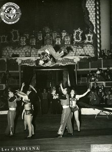 France Music Hall Bouglione Circus Acrobat 6 Indiana Old Photo Photonub 1950