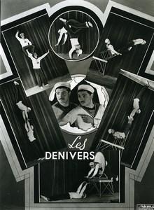 France Music Hall Cirque Artiste Acrobate les Denivers ancienne Photo Esnault 1950
