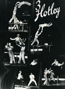 Denmark Music Hall Circus Acrobat 3 Hotley Old Photo Knudsen 1950