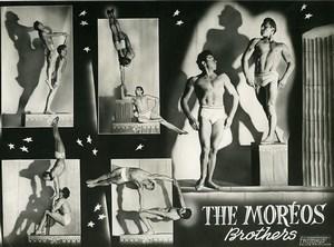 France Music Hall Circus Acrobat the Moreos Brothers Old Photo Photonub 1950