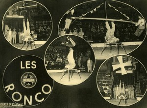 France Music Hall Medrano Circus Acrobat les Ronco Old Photo Dannes 1950