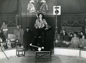 France Dijon Music Hall Circus Acrobat Juggling Old Photo Morice 1950