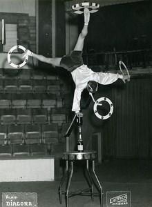 France Waziers Music Hall Circus Acrobat Alain Diagora Old Photo Luttica 1950