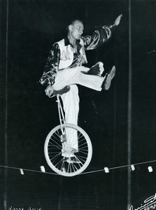 Belgium Namur Music Hall Circus Acrobat Ruddy Bolly Unicycle Old Photo 1950