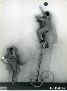 France Music Hall Circus Acrobat the Mathis Unicycle Old Photo Verrier 1950