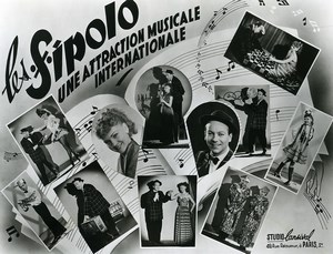 France Music Hall Circus Musicians les Sipolo Old Photo Lansival 1950