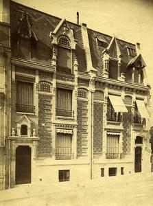 France Paris rue Alphonse Deneuville ancienne Photo 1890