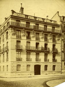France Paris rue Vaudremer ancienne Photo 1890