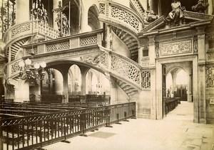 France Paris Church St Etienne du Mont Old Photo 1890