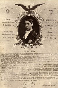 Louis-Napoléon Prince Imperial Propagande Bonapartiste ancienne Photo Print 1880