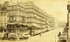 France Marseille Rue de Noailles Photographie Centrale ancienne Photo Carte Cabinet Neurdein 1880's