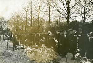 German Tombs Pantin Cemetery Paris WWI Old Photo Identite Judiciaire 1914