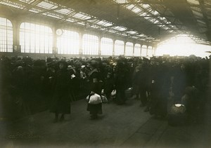 Repatriates Arrival Gare de Lyon Paris WWI Old Photo Identite Judiciaire 1917
