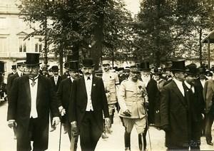 Concours Lépine Paris Officials Arrival WWI Old Photo Identite Judiciaire 1916