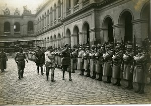 Troops Review Duke Connaught Paris Invalides WWI Photo Identite Judiciaire 1916