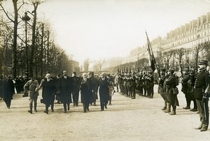 Paris Military Preparedness Review WWI Poincare Photo Identite Judiciaire 1917