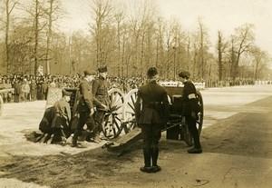 Paris Revue des Sociétés de Préparation Militaire Canon de 75 WWI Photo Identite Judiciaire 1917