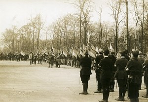 Paris Military Preparedness Societies WWI Flags Photo Identite Judiciaire 1917