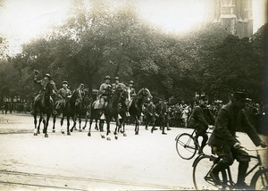 Paris Avenue Victoria US Independence Day WWI Old Photo Identite Judiciaire 1917