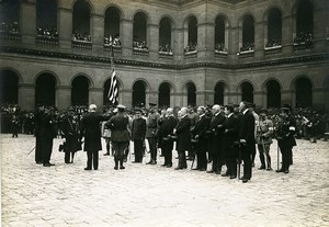 Paris Invalides US Independence Day WWI Old Photo Identite Judiciaire 1917