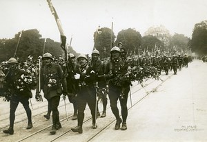 Paris Observatoire Bastille Day Parade WWI Old Photo Identite Judiciaire 1917