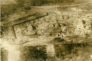 France Village Ruines Première Guerre Mondiale ancienne Photo Aerienne 1916