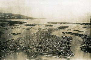 Italy Venezia Venice WWI Old Aerial View Photo 1918