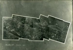 France Paris Auteuil Panorama First World War WWI Old Aerial Photo 1918