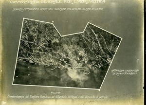 Croatia Italian Bombardment of Fiume Rijeka Old Aerial Photo 1918