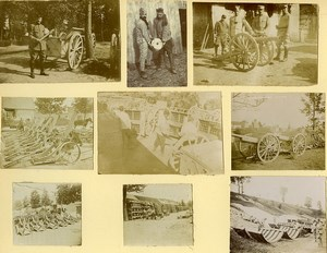 France Soldiers Life near Front Guns First World War 9 Old Photos 1917