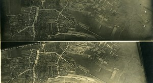France Pagny sur Moselle First World War WWI Old Aerial Photo 1915
