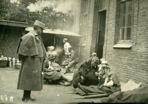France WWI Marne Tirailleurs Algériens Blessés ancienne Photo 1918