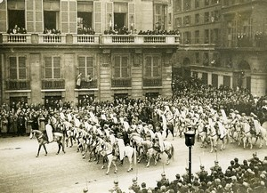 France Paris Victory Parade Spahis Horses First World War Old Photo 1919