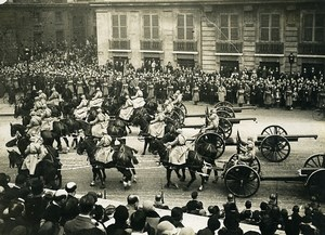 France Paris Victory Parade Artillery Cannons First World War WWI Old Photo 1919