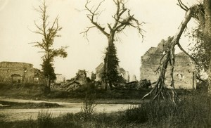 France First World War Destruction House Ruins WWI Old Photo 1918'