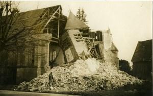 France First World War Church Ruins Destruction WWI Old Photo 1918'