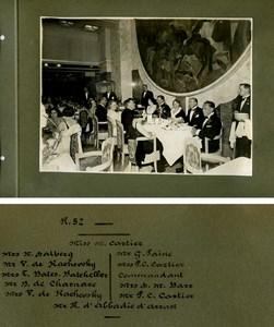 French Line Ocean Liner Ile de France Commandant Blancart old Photo Album 1930