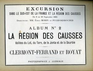 Region of Causses Clermont Ferrand & Royat Album of 71 Photos Jusniaux 1895