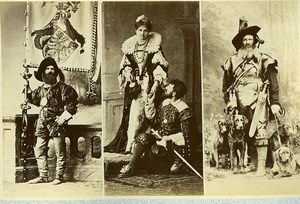 16th century European French Men Fashion Costumes Old Photo Calavas 1890