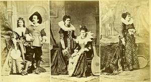 16th century European French Women Fashion Costumes Gittern? Photo Calavas 1890