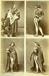 16th century European French Men Fashion Costumes Old Photo Calavas 1890