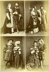 Mode Européenne du XVIe siécle Costumes Couples Ancienne Photo Calavas 1890