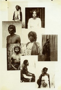 Madagascar Natives Portrait Photomontage Old Composite Photo Ramahandry 1910'
