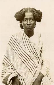 Madagascar Femme de Sainte Marie Ancienne Photo Ramahandry 1910'