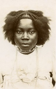 Madagascar portrait de femme Sakalave Sakalava Ancienne Photo Ramahandry 1910'