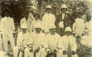 Madagascar Sakalava Officials Old Photo Ramahandry 1910'