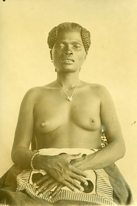 Madagascar Femme Sakalave Sakalava Ancienne Photo Ramahandry 1910'