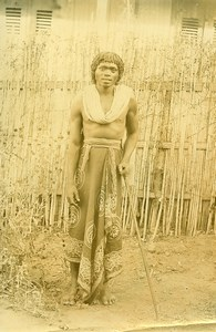 Madagascar Homme Sakalave Ancienne Photo Ramahandry 1910'