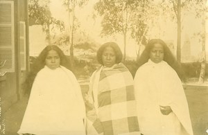 Madagascar Hovas Women in Mourning Old Photo Ramahandry 1910'